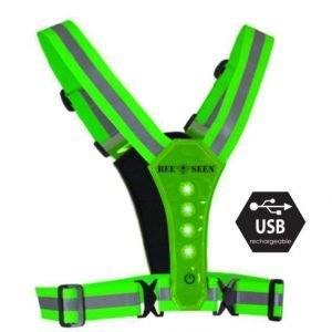 Bee-Safe-Led-Harness-green-NonStop-Running