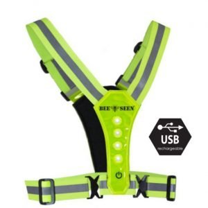 Bee-Safe-Led-Harness-lime-NonStop-Running