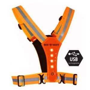 Bee-Safe-Led-Harness-oranje-NonStop-Running